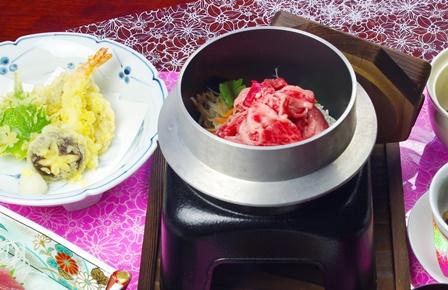 松坂牛の釜飯ご膳